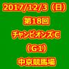 第18回チャンピオンズカップ(G1) 2017年12月3日(日)4回中京2日