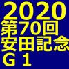 安田記念 2020 データ分析 出走予定馬 血統 動画 有名人予想