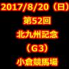 北九州記念 2017 データ分析 出走予定馬 血統 動画 有名人予想