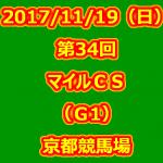 第34回 マイルチャンピオンシップ(GⅠ)  開催日 平成29年11月19日(日)  競馬場 京都競馬場   条件 3歳以上 オープン 定量 芝1600m