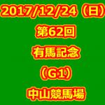 第62回有馬記念(GⅠ) 2017年12月24日(日)5回中山8日